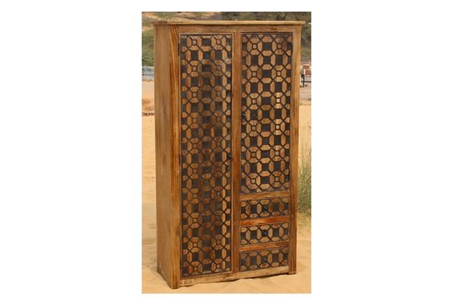2-Door/3-Drawer Metal Inserts Cabinet - 360