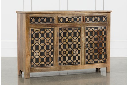 3-Door/3-Drawer Metal Inserts Sideboard