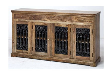 4-Door/4-Drawer Cast Jali Sideboard