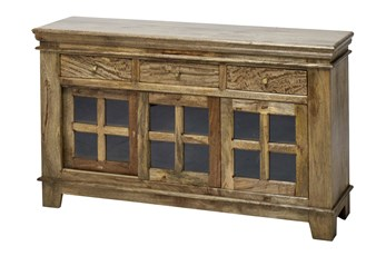 "12-Glass/3-Drawer 36"" Sideboard"