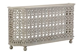 """Hand Carved White Wash 70"""" Console Table"""