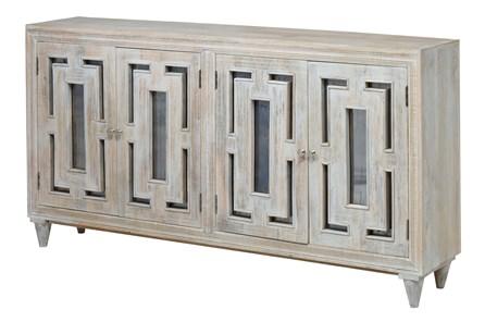 4-Door White Wash Sideboard