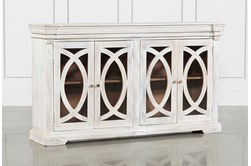 "White Wash 4-Door 70"" Sideboard"