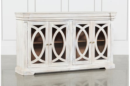 White Wash 4-Door Sideboard - Main