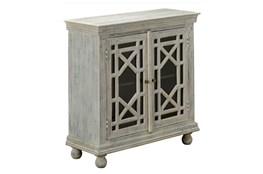 "2-Door White Wash 40"" Sideboard"