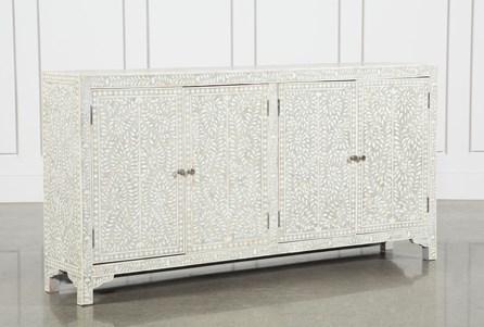 4-Door Bone Inlay Sideboard