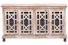 4-Door-4-Drawer White Wash Sideboard