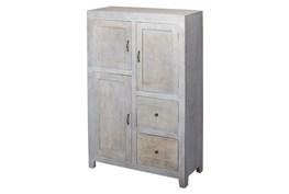 3-Drawer/2-Door  White Wash Sideboard
