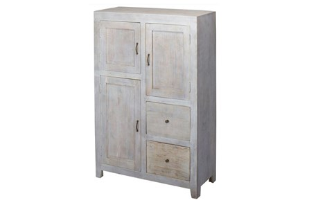 3-Drawer/2-Door  White Wash Sideboard