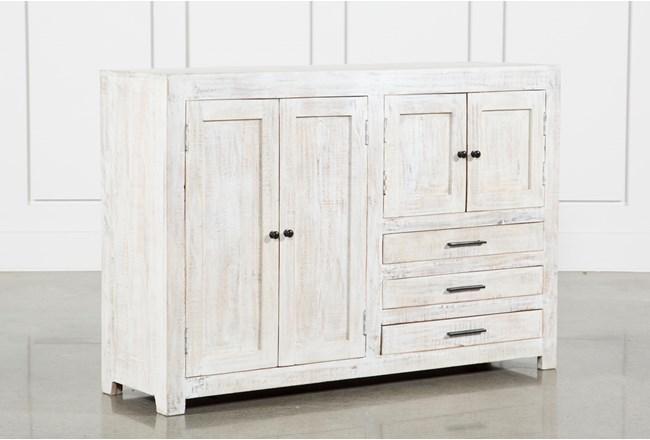 4-Door-3-Drawer White Wash Sideboard - 360