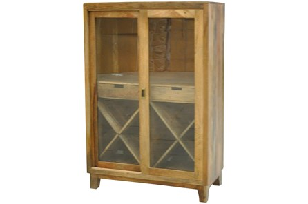 2-Door Sliding Wine Cabinet