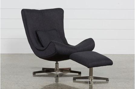 Anne Accent Chair & Ottoman - Main