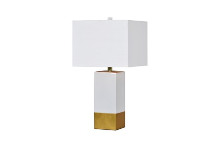 Table Lamp-Croix Gold & Marble