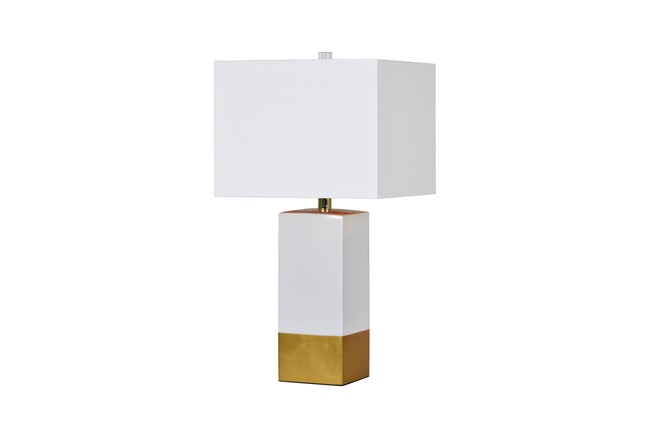 Table Lamp-Croix Gold & Marble - 360