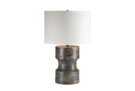 Table Lamp-Grey Mango Wood