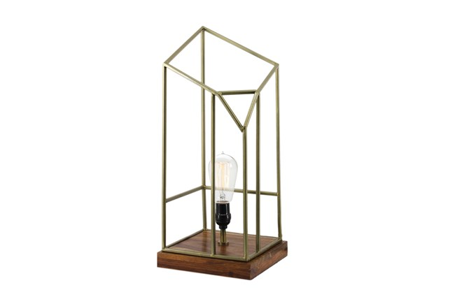 Table Lamp-Caged Edison - 360