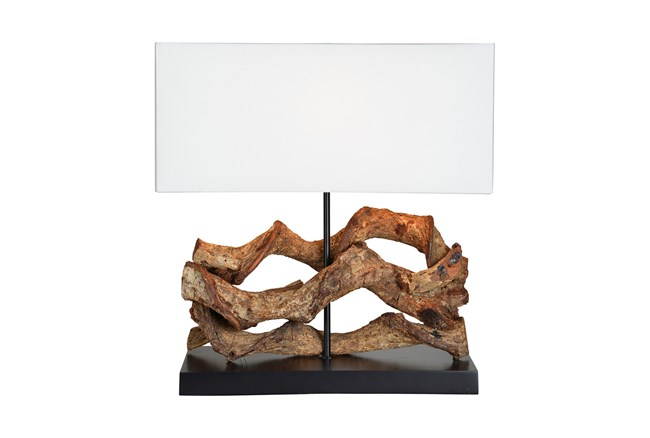 Table Lamp-Rustic Driftwood - 360
