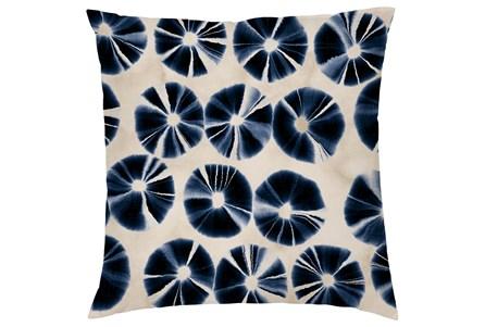 Accent Pillow-Indigo Tie Dye Circles 20X20