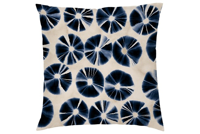 Accent Pillow-Indigo Tie Dye Circles 20X20 - 360