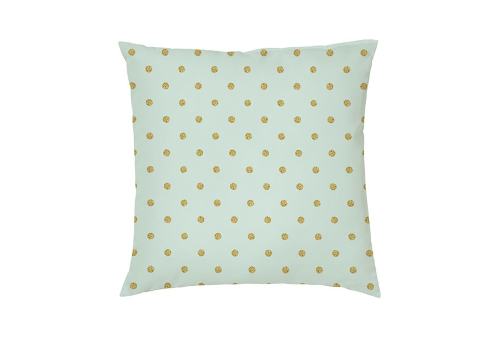Accent Pillow-Youth Wonderland Gold Dots 16X16