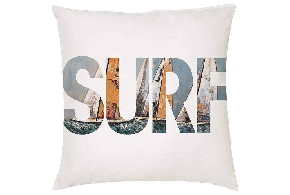 Accent Pillow-Youth Surf Typography 16X16