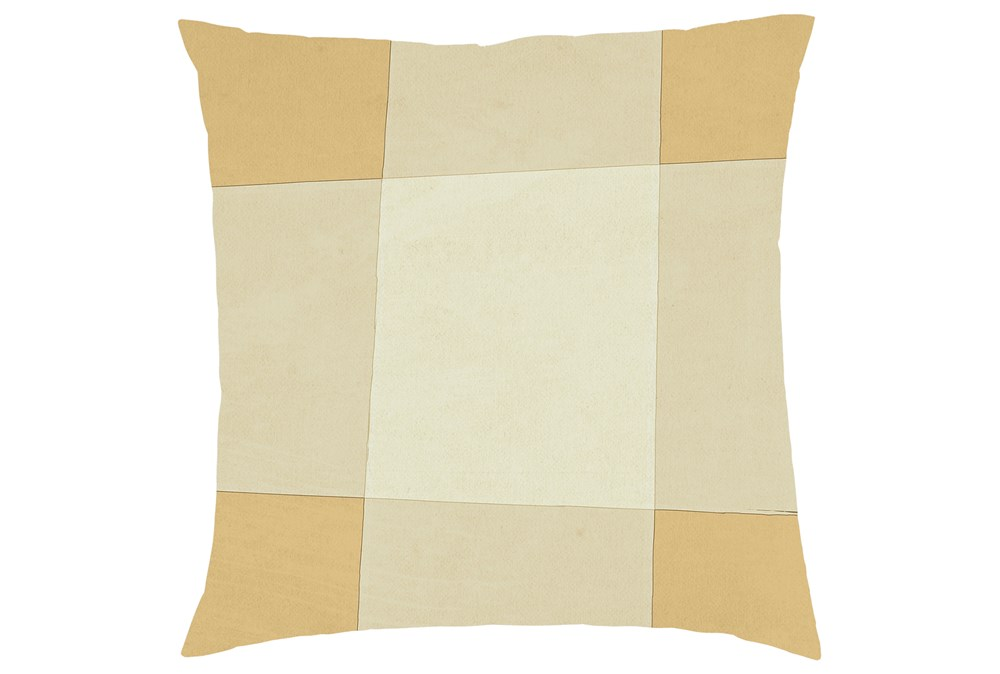 Accent Pillow-Youth Whimsy Yellow Check 16X16