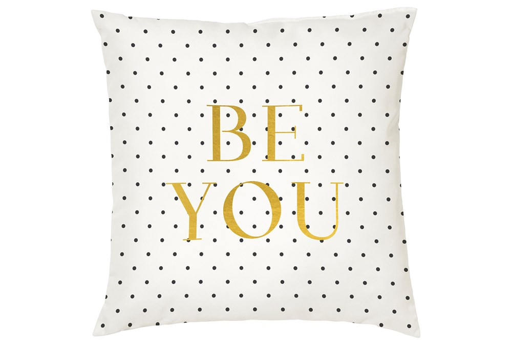 Accent Pillow-Youth B&W Be You 16X16
