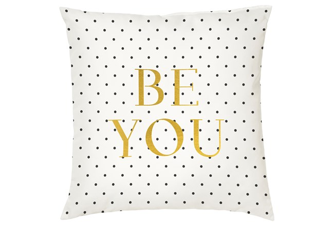 Accent Pillow-Youth B&W Be You 16X16 - 360