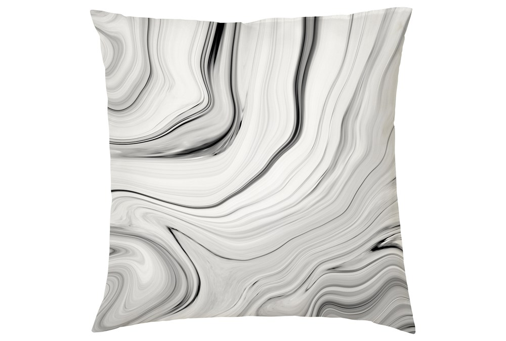 Accent Pillow-Youth B&W Marble 16X16