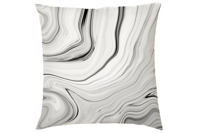 Accent Pillow-Youth B&W Marble 16X16 - 360