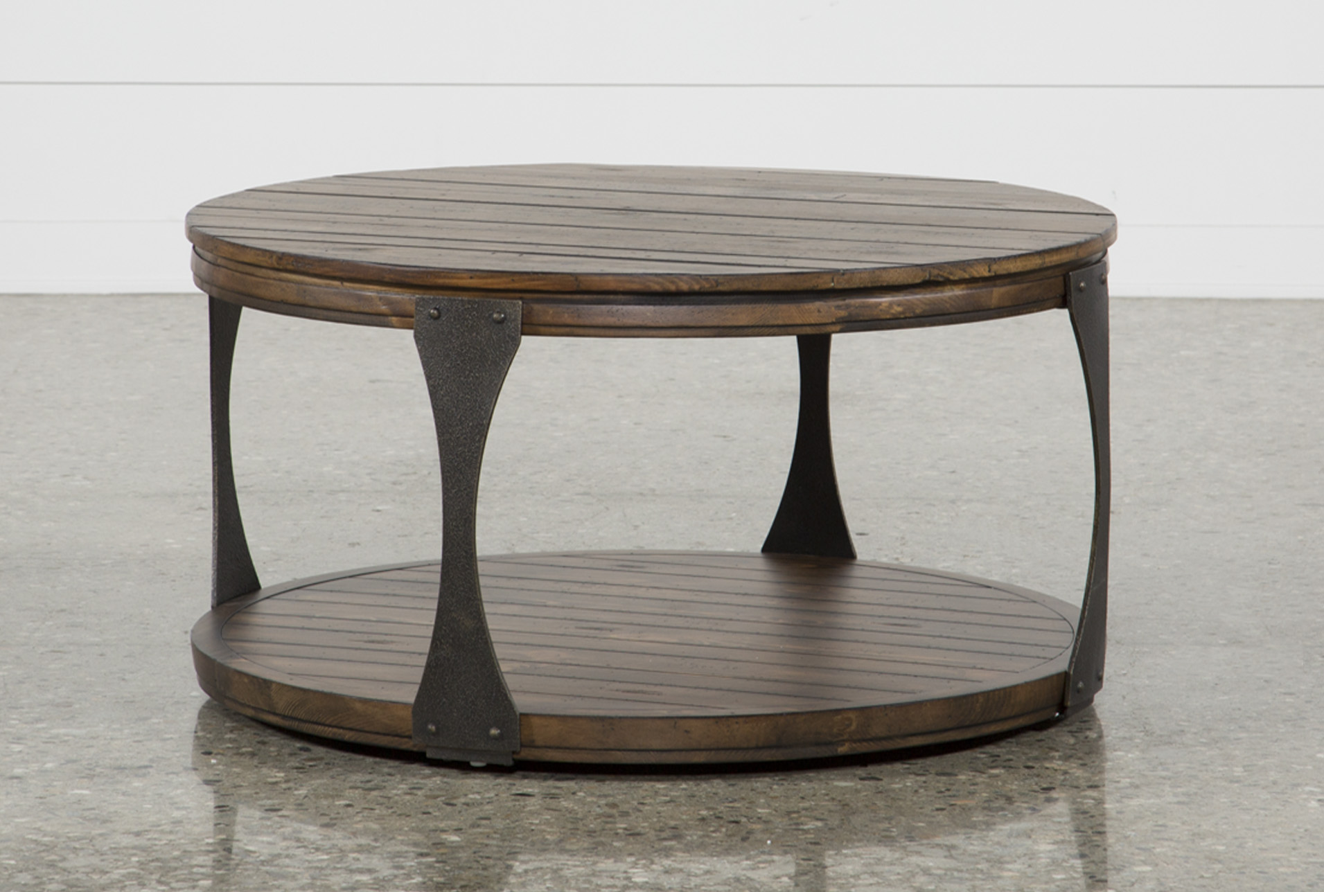 - Blanton Round Coffee Table Living Spaces