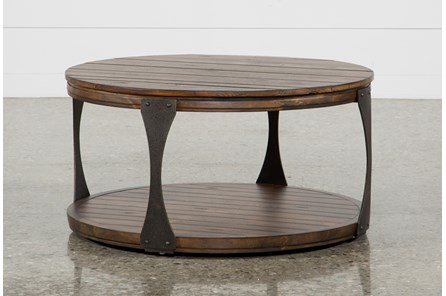 blanton round cocktail table living spaces