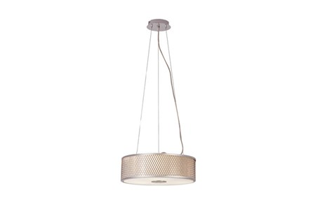 Pendant-Polished Chrome Diamond Mesh Small - Main