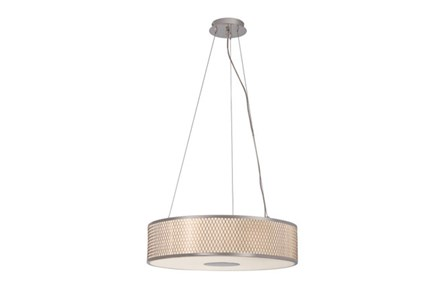 Pendant-Polished Chrome Diamond Mesh Large