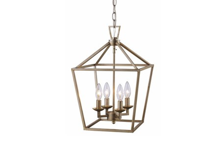 Pendant-Jensen Silver 4-Light
