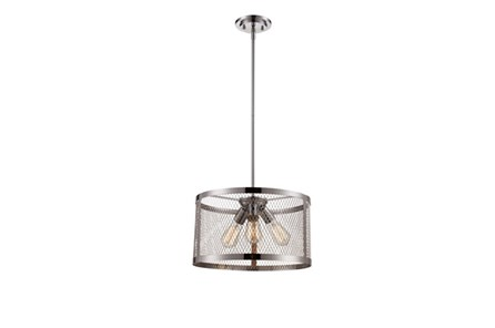 Pendant-Modern Farmhouse Chrome 3-Light - Main