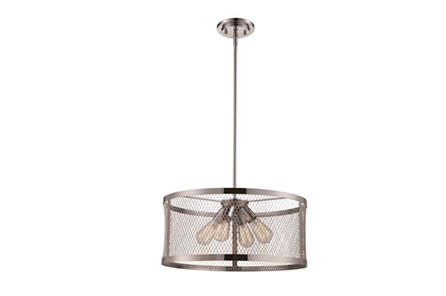Pendant-Modern Farmhouse Chrome 4-Light - Main