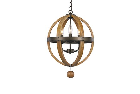 Pendant-Vineyard 3-Light Globe