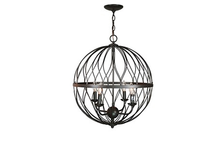 Pendant-Lattice Globe Bronze 4-Light - Main