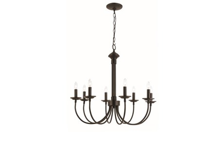 Chandelier-Candice Black 8-Light