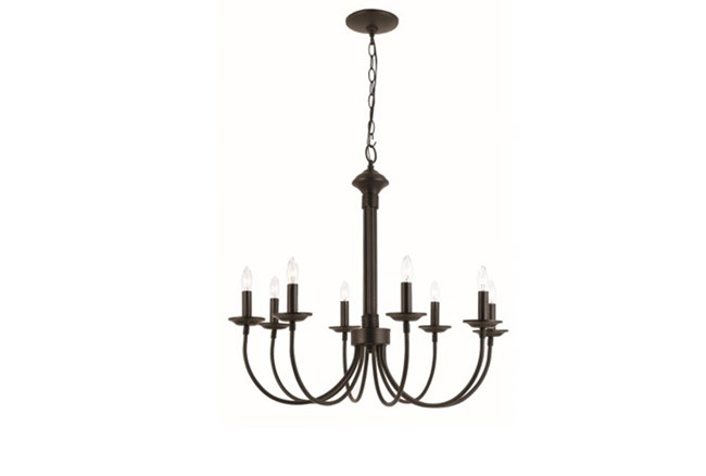 Chandelier-Candice Black 8-Light - 360
