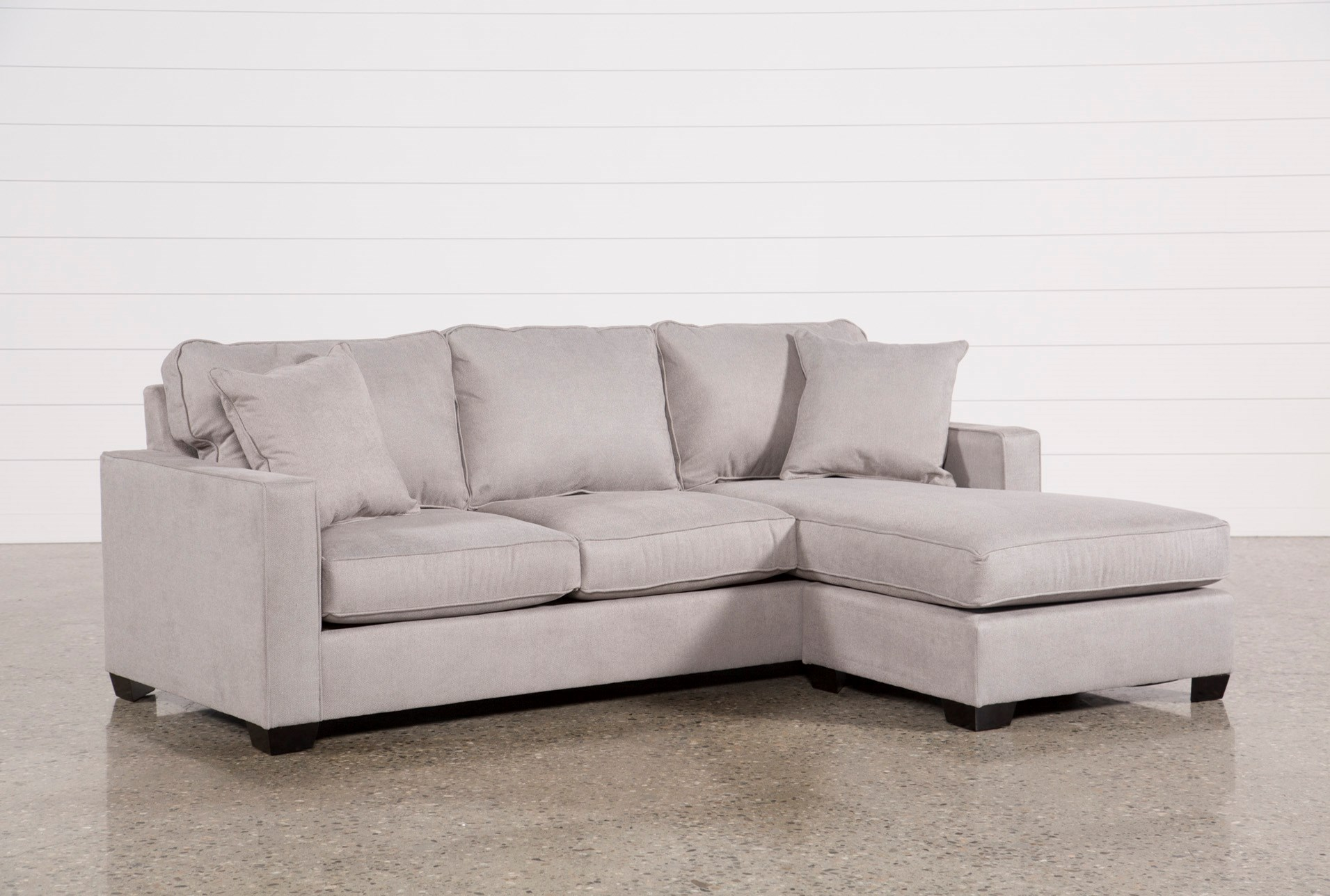 Egan Ii Cement Sofa With Reversible Chaise Living Spaces