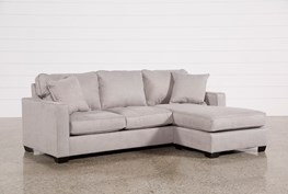 """Egan II Cement 93"""" Sofa With Reversible Chaise"""