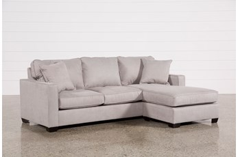 "Egan II Cement 93"" Sofa With Reversible Chaise"