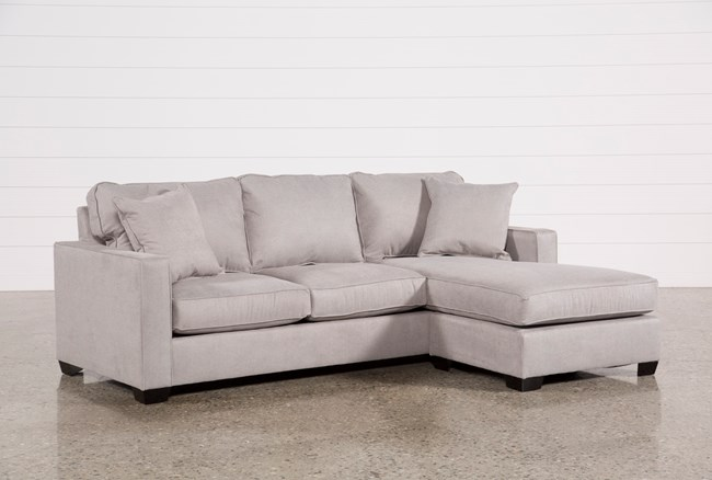 Egan II Cement Sofa W Reversible Chaise