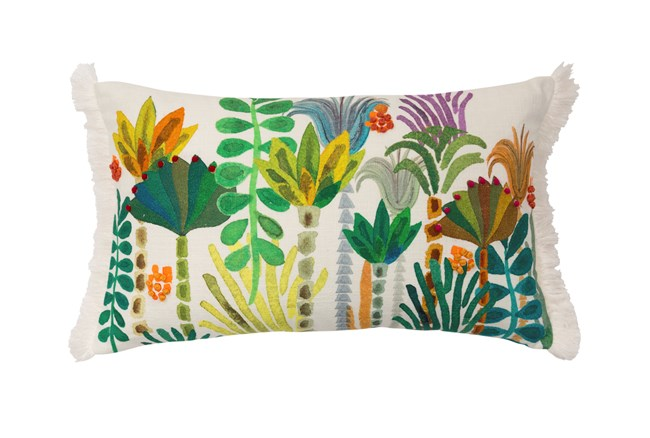 Accent Pillow-Justina Blakeney Embellished Botanicals Multi 13X21 - 360