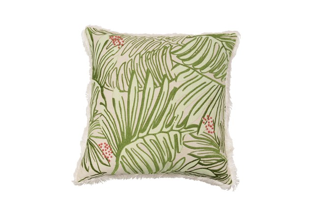 Accent Pillow-Justina Blakeney Embellished Fronds Green 22X22 - 360