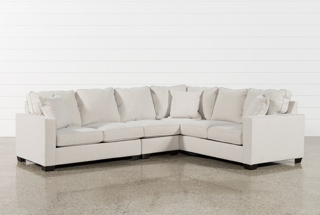 Raphael II Flax 3 Piece Sectionalw/Laf Loveseat - 360