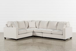 Raphael II Flax 3 Piece Sectionalw/Raf Loveseat