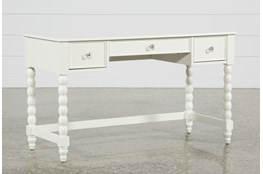 "Madison White 54"" Desk With USB"